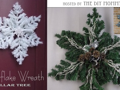 Snowflake Wreath. Christmas DIY & Decor Challenge Hosted By The DIY Mommy.Dollar Tree DIY