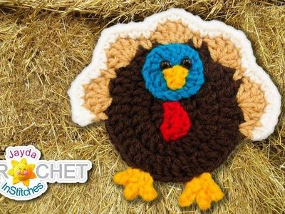 Thanksgiving Turkey Applique - Crochet Tutorial & Pattern