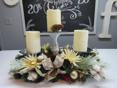 Tricia's Christmas: Candle Trio Centerpiece