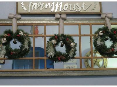 Tricia's Christmas: Mini Wreath Trio from Pine Garland