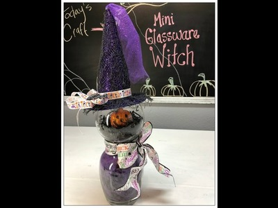Tricia's Creations: Halloween Mini Glassware Witch. Dollar Tree Challenge