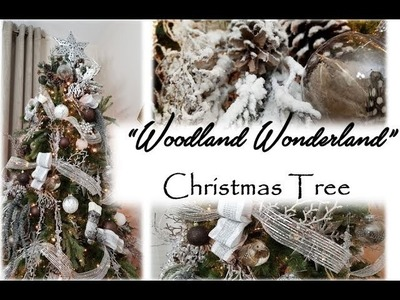"""Woodland Wonderland"" Christmas Tree Reveal. Decor8 With Me!!!!"