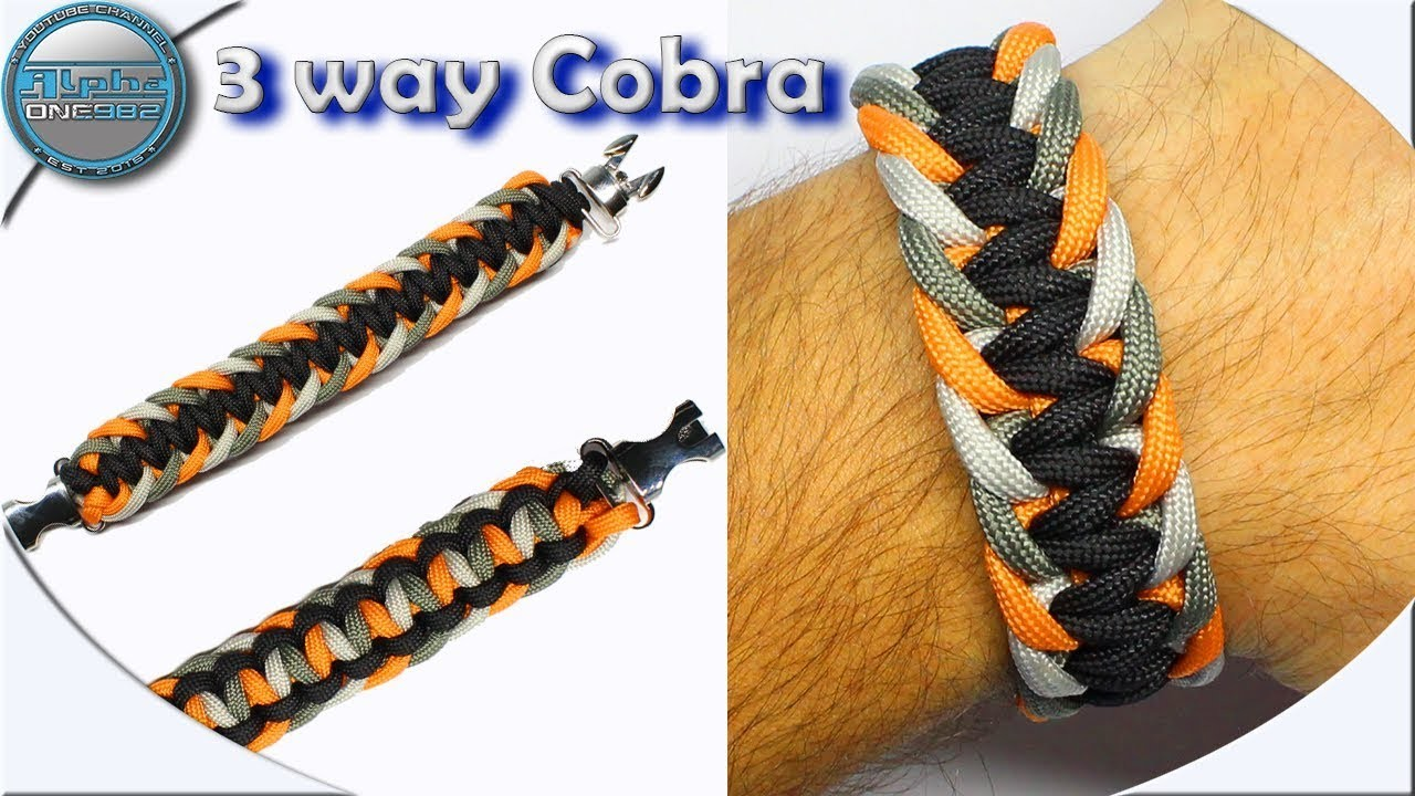 World of Paracord How to Make a Paracord Bracelet 3 Way Cobra Fast and Easy DIY Paracord Tutorial