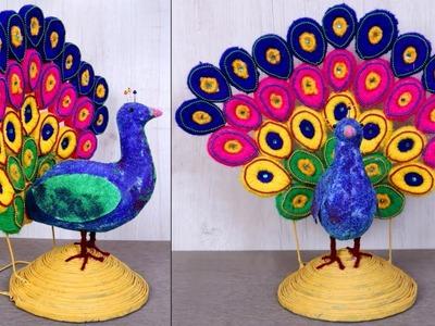 WoW ! What an Amazing DIY Peacock Showpiece || Handmade Things