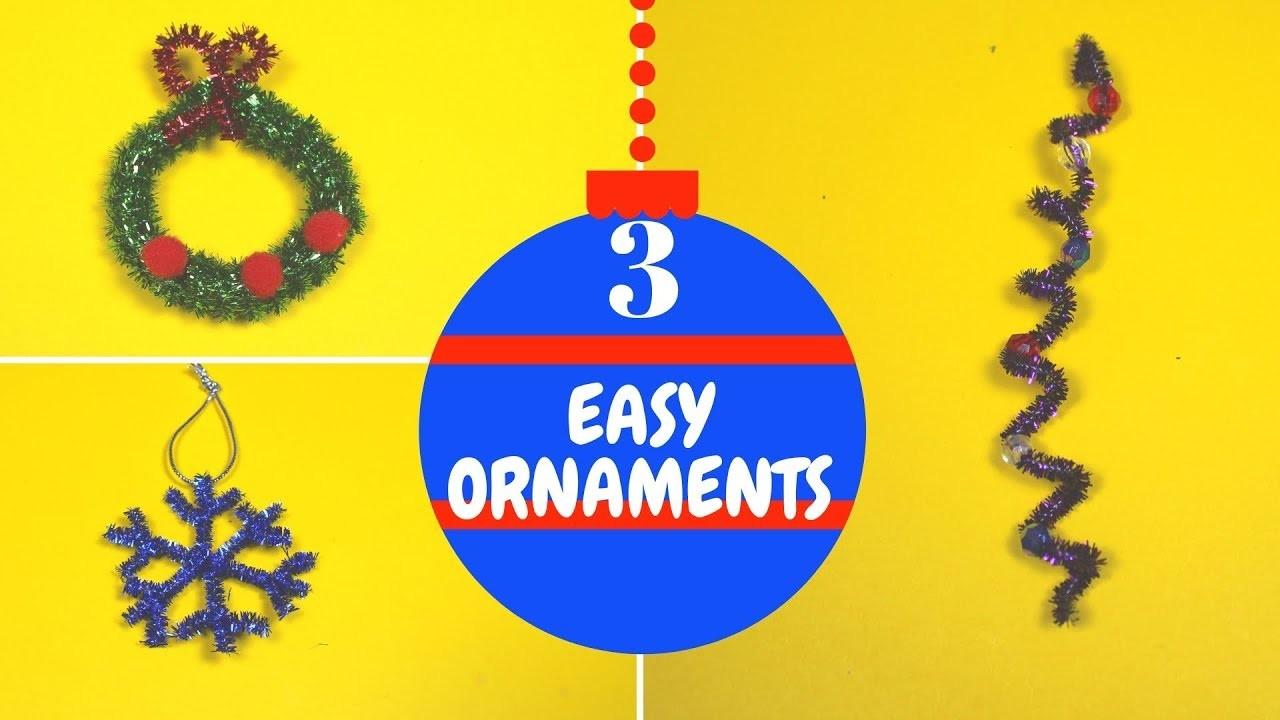 3 Easy Christmas Ornaments for Kids   Christmas Craft