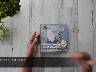 Accordion Style Mini Album   Mantle Decor   Center Piece   Fast Christmas Gift