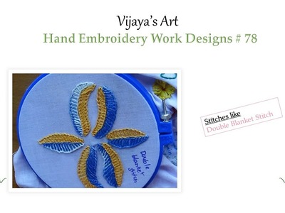 Beautiful Hand Embroidery Designs - Double Blanket Stitch  Design # 78