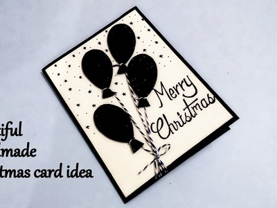 Beautiful Handmade Christmas Card Idea | DIY Christmas card tutorial