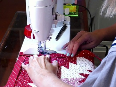Behind the Seams: Thistle Tree Skirt & How to Bind 120 Degree Angles on Quilts 2 - Fat Quarter Shop