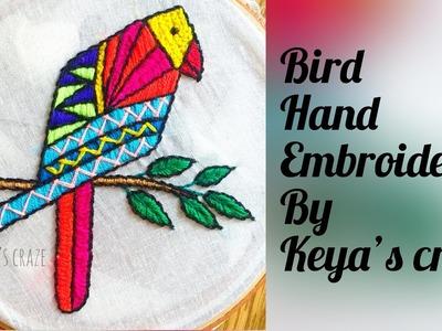 Bird hand embroidery tutorial | keya's craze