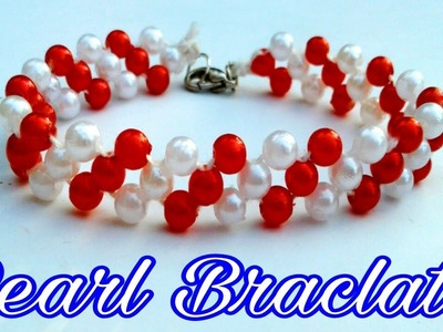 Bracelet.Friendship Bracelets.How to make Bracelets.Pearl Bracelets.Crossed Bracelets with pearls