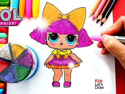 Cómo dibujar a GLITTER QUEEN (Muñeca LOL Surprise) | How to Draw Glitter Queen Doll