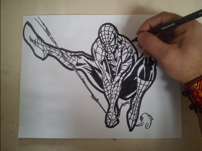 Como dibujar a spiderman. HOW TO DRAW A SPIDERMAN