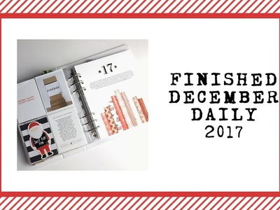 Completed December Daily 2017 | Flip Through