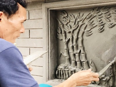 Construction - We can easily build up a mural from the sand and cement - Great construction skills