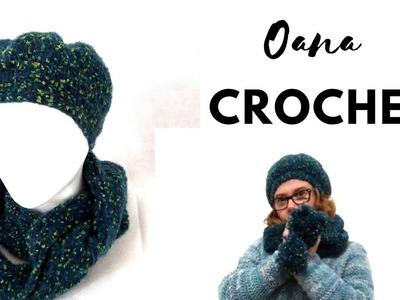 Crochet pompom beret by Oana EN