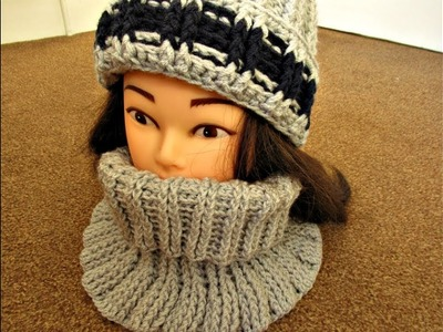 Crochet Snood instead scarf Neck warmer How to Crochet tutorial - Designed by Happy Crochet Club