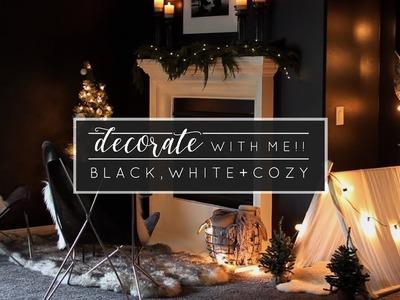Decorate with Me! Minimal Christmas Mantel
