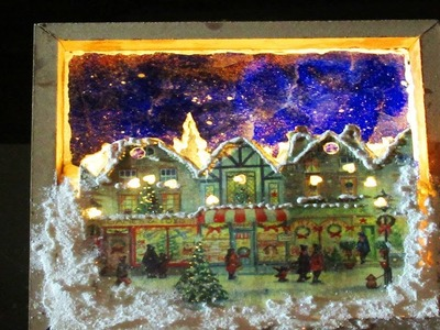 DIY Christmas Village Shadow box
