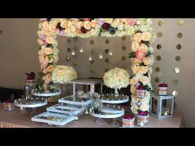 DIY- dessert table decor DIY-Dollar tree dessert table decor DIY- bling Decor Diy- Wedding decor