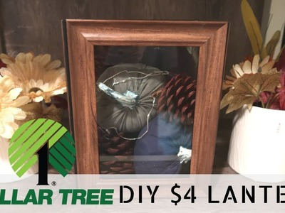 DIY Dollar Tree Lantern | $4 Farmhouse Lantern | Budget Friendly Rustic Decor |