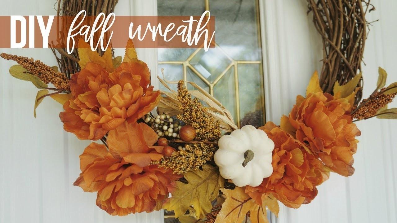 DIY Fall + Halloween Wreath! Easy & Affordable! Under $10
