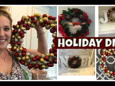 DIY Holiday Decor Ideas! EASY and Budget Friendly! Dollar Tree DIYs