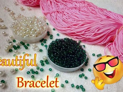 DIY | HOW TO MAKE BANGLE.BRACELET WITH SATIN CORD AND PEARLS | JEWELLERY MAKING | DIYARTIEPIE