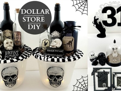 Dollar Store DIY's ~ BLACK & WHITE Halloween Home Decor ~ Spooky & Stylish On A Budget!