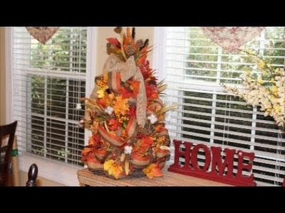 Dollar Tree Decor ~Decorated Fall Grapevine Tree~