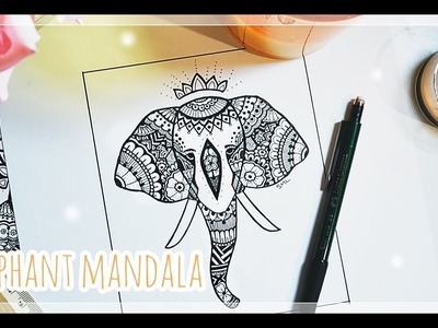 Easy Zentangle Elephant Tutorial + Design