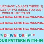 CRAFTS Elephant Mother & Child Cross Stitch Pattern***LOOK***