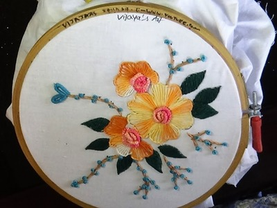 Embroidery Designs -  Simple and easy buttonhole, double cast on stitch designs