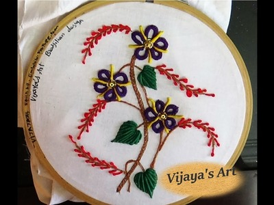 Embroidery designs -  Simple Brazilian Embroidery with double cast on designs