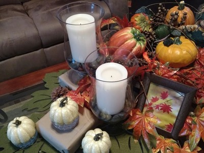 Fall 2017- Fall Decor Coffee Tablescape- Cameo by MaryAnn-Part 5 in series