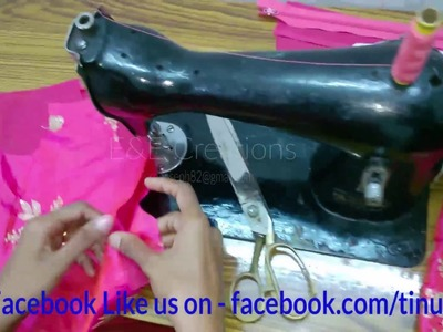 Floor length yoke full gown cutting and stitching with body measurements easy method   part - 2