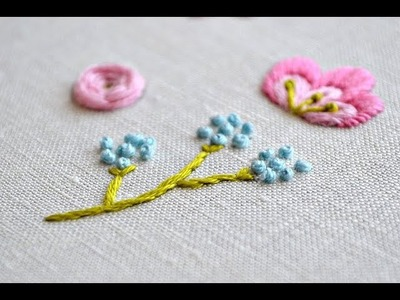 French knot flower embroidery tutorials