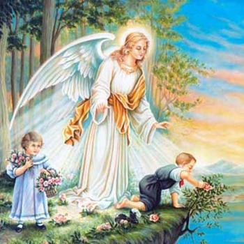 Gaurding Angel Cross Stitch Pattern***LOOK***X***INSTANT DOWNLOAD***