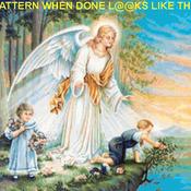 Gaurding Angel Cross Stitch Pattern***LOOK***X***INSTANT DOWNLOAD***