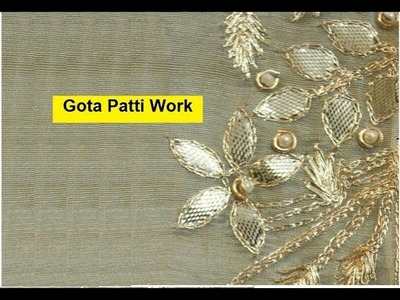 Gota Patti  tutorial with Chain Stitch