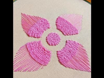 Hand Embroidery: Chain Stitch Flower Embroidery IIHandiWorks #2