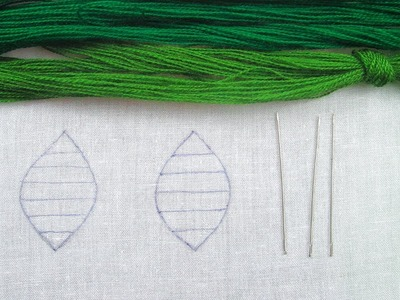 Hand Embroidery,Different style leaves embroidery,Easy leaves stitch.Crafts & Embroidery