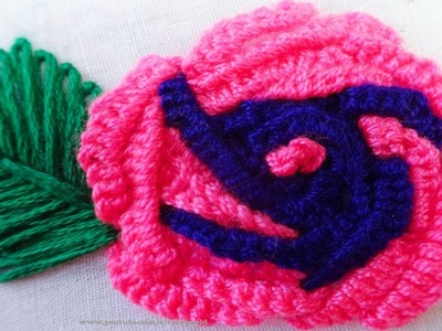 Hand Embroidery: Flower embroidery | Easy sewing idea