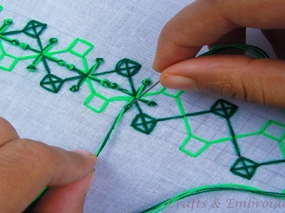 Hand embroidery. Hand embroidery pattern for beginners. Part 01. Crafts & Embroidery