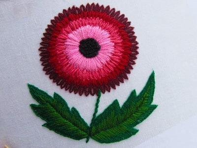 Hand Embroidery.Lazy daisy stitch.Beautiful flower stitch by Crafts & Embroidery.