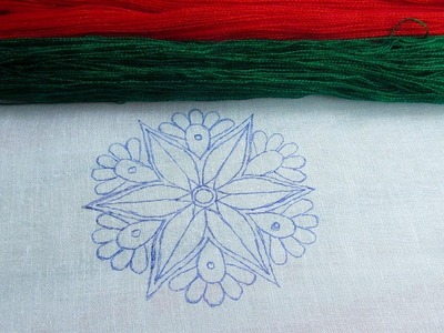 Hand Embroidery; Nakshi Kantha Design; Buttonhole Stitch; Back Stitch