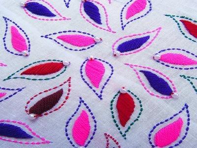 Hand Embroidery; Phulkari Dopatta; Kantha Stitch