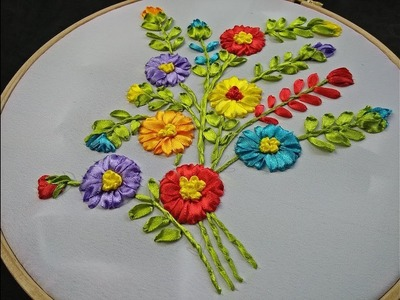 Hand Embroidery - Ribbon Embroidery Design