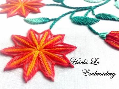 Hand Embroidery Tutorial for Beginners   Lazy Daisy Stitch   Cách thêu hoa 2 màu đơn giản