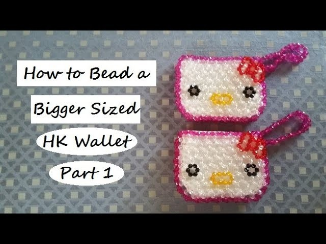 How to Bead a Bigger Sized HK Wallet Part 1